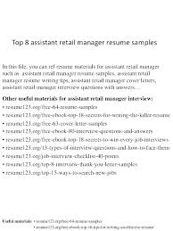 Examples Of Retail Resumes Impressive Clothing Store Manager Resume Retail Store Manager Resume Retail