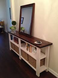 Diy Rustic Sofa Table Rustic Chic Console Table Entryway Tables Storage And Movie