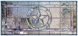texas star horizontal leaded glass custom beveled transom window