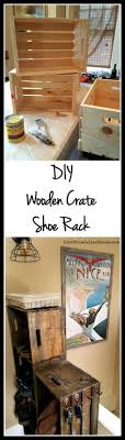 wood crate furniture diy. diy wooden crate shoe rack wood furniture diy