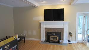 modern fireplace mantels tv above