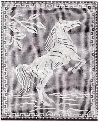Filet Crochet Patterns Beauteous Horse Filet Crochet Pattern CrochetFilet All Day Pinterest