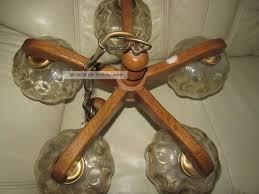 Alt Sehr Schöne Kronleuchter Lüster Deckenlampe Massiv Holz