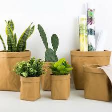 Paper Flower Pots Details About Strong Paper Plant Pot Flower Pots Storage Bag Home Various Sizes Colours