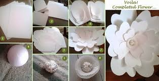 Paper Flower Diy Wedding Diy Large Paper Flower Dream Events In Paper The Beginning Of