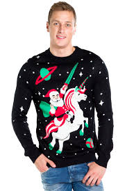 Men\u0027s Santa Unicorn Christmas Sweater | Tipsy Elves
