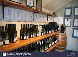 Selection of wines at the Cellar door at West Brook Winery, Kumeu ...