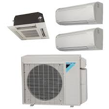ductless heat pump ceiling mount. Brilliant Mount Mini Split Multi 3 Zone Daikin Up To 179 SEER Heat Pump System 3MXS24RMVJU  X Wall Mount Or Ceiling Cassette To Ductless