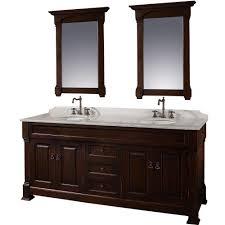 wyndham collection andover 72 in vanity in dark cherry with double basin marble vanity top