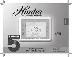 hunter programmable thermostat wiring diagram images he wiring hunter programmable thermostat 44860 manual