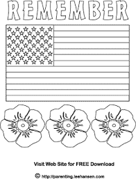 Small Picture Memorial Day flag and poppies coloring page Coloring Books