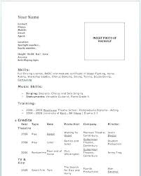 Actor Resume Example Actor Resume Template Sample Resume Theater ...