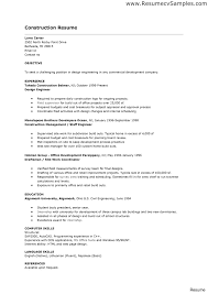 Construction Resume Sample Free Apprentice Electrician Construction Space Saver Resume Examples 33
