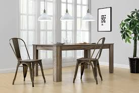 amazon dhp fusion metal dining chair with wood seat set of two antique bronze kitchen dining