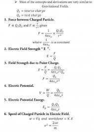 a level physics formula sheet coulumb s law
