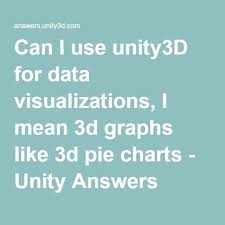 Unity Pie Chart Can I Use Unity3d For Data Visualizations I Mean 3d Graphs