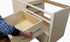 build kitchen cabinets install drawer slides free design plans