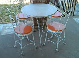 Vintage Ice Cream Parlor Table Chair Patio Set Retro Patio Ice Cream Parlor Chairs And Table