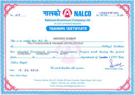 samples of certificates tcil it cuttack safety officer training course fire safety