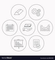 Save Money Dynamics Chart And Statistics Icons