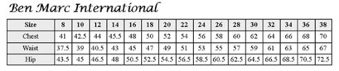 Ben Marc Size Chart Ben Marc International