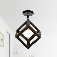 loft nordic iron industry vintage home decor flush mount ceiling light fixtures restaurant dd 51