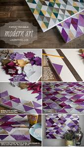 paper triangle wall art tutorial on cut canvas wall art tutorial with diy modern triangle art