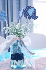 Baby's Breath Centerpiece Idea For A Baby Shower