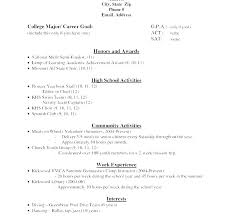 College Application Resume Template Simple Application Resume Template