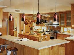 Kitchen Pendant Lights And Lighting Multi For With Wooden Island Also Stainless  Steel Range Hood Fashionable Functional Light Copper Rustic Lamp Shade ...
