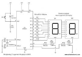 all its electronics interfacing seven segment display to  when assembled and powered on the circuit will display the number 16prime and let us see how it is done initially the first display is activated by making