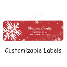Us 14 23 Snowflake Return Address Label Red Merry Kissmas Christmas Goodie Bag Label Tags For Gift Bags Holders In Stockings Gift Holders From