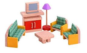 cheap dollhouse furniture. PLAN TOYS Dollhouse Furniture - Neo Living Room Cheap Dollhouse Furniture