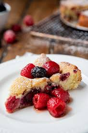 Butter Cake With Boozy Berries A Communal Table