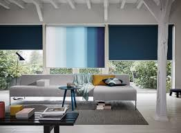 Trendy office designs blinds Blinds Wall Blue Blinds In Modern Living Room Jotliveco The Best Blinds For Large Windows Luxaflex Blog