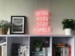 Neon Signs For Home Decor New Work Hard Stay Humble Neon Sign For Bedroom Wall Home Decor 35