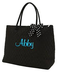 Personalized XLarge Tote Bag Black White accents | Things to Wear ... & Personalized XLarge Tote Bag Black White accents Adamdwight.com
