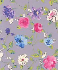 Bold Floral By Galerie Purple Wallpaper ...