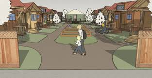tiny house communities. Conceptual Drawing Tiny House Communities G