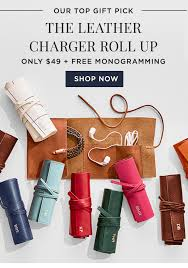 gift we the leather charger roll up 49 free monogramming