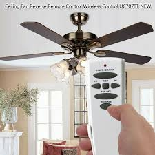 details about uc7078t hampton bay ceiling fan remote control dimmer reverse on replacement