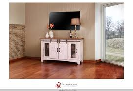 solid pine wood white pueblo 60 tv stand with sliding doors in white natural