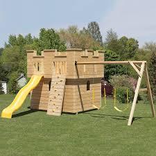 sir lancelot castle amish playset kit inspirational backyard rock climbing wall