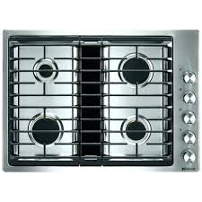 ge profile 30 built in ceramic glass gas cooktop white stainless steel common actual 2975 inch