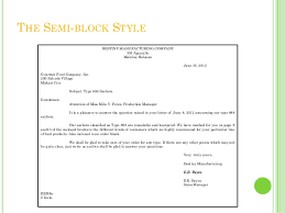 Sample Of Application Letter In Semi Block Form   Shishita world com Personal Business Letter Format in Word
