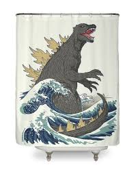 cool shower curtains. Unique Shower Product Title The Great Monster Off Kanagawa Hero Shot To Cool Shower Curtains