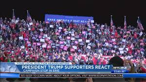 President Trump supporters react to the ...