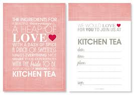 Kitchen Tea Invites Kitchen Tea Invitations
