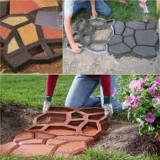 UK <b>Plastic Path</b> Maker Mold Manually Paving Brick Stone Road <b>DIY</b> ...