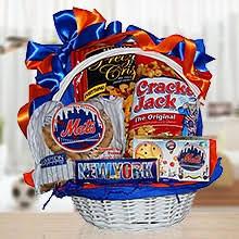 for mets fans gift basket of snacks